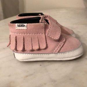 Baby Girl Pink Suede Vans!